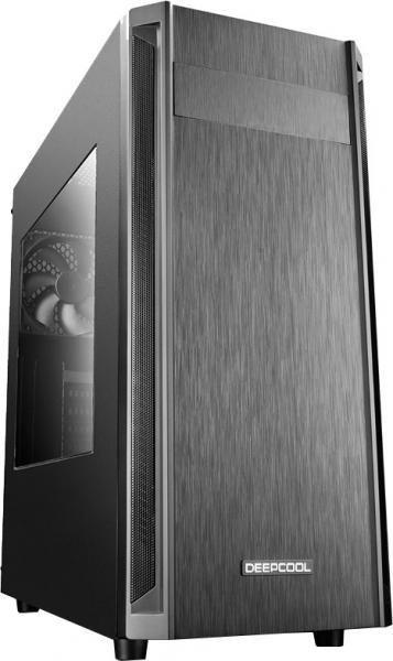 """CARCASA DEEPCOOL ATX  Mid-Tower, 1* 120mm fan (inclus), front audio & 1x USB 3.0, 2x USB 2.0, black """"D-SHIELD V2"""" 0"""