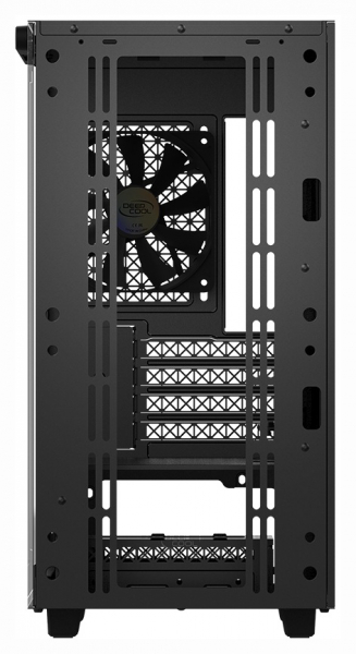 "CARCASA DeepCool Middle-Tower ATX, 1* 120mm fan (inclus), tempered glass, panouri laterale magnetice, tavan amovibil, front audio & 2x USB 3.0, black ""MACUBE 110"" 8"