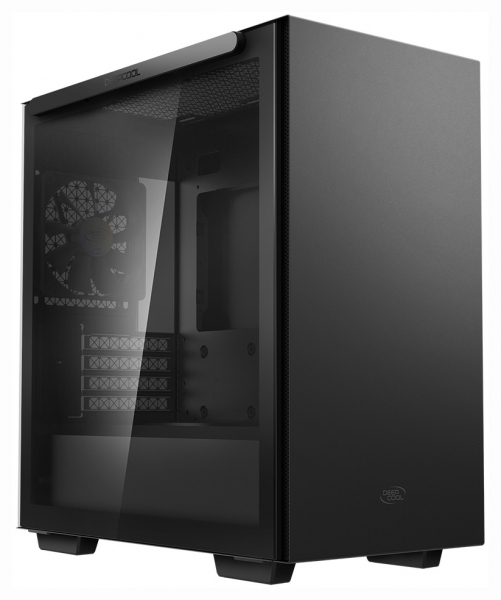 "CARCASA DeepCool Middle-Tower ATX, 1* 120mm fan (inclus), tempered glass, panouri laterale magnetice, tavan amovibil, front audio & 2x USB 3.0, black ""MACUBE 110"" 0"