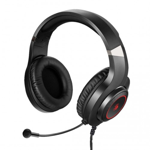 "CASTI A4TECH Bloody gaming, cu fir, tip standard, utilizare multimedia (PC and more), microfon pe casca, iluminare, negru, jack 3.5"", ""G220"" (include TV 0.75 lei) [2]"