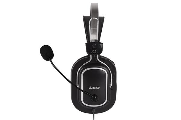 "CASTI A4TECH cu microfon, lungime fir 2m, control volum pe fir, conector USB, Black ""HU-50"" (include timbru verde 0.5 lei) [1]"