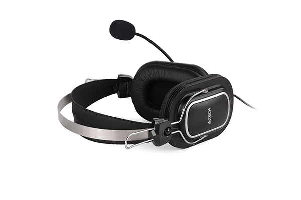 "CASTI A4TECH cu microfon, lungime fir 2m, control volum pe fir, conector USB, Black ""HU-50"" (include timbru verde 0.5 lei) [2]"