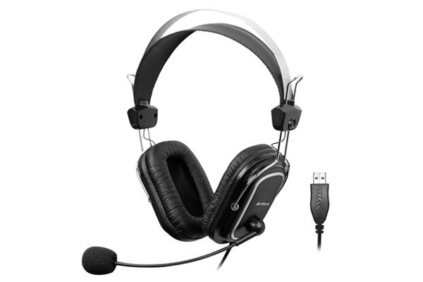 "CASTI A4TECH cu microfon, lungime fir 2m, control volum pe fir, conector USB, Black ""HU-50"" (include timbru verde 0.5 lei) [0]"