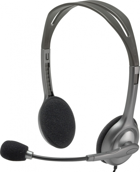 """Casti Logitech  """"H111"""" Stereo Headset with Microphone """"981-000593""""  (include timbru verde 0.01 lei) [0]"""