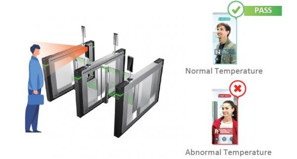 Controler de acces facial pentru detectarea temperaturii Dahua DHI-ASI7213X-T, precizie 0.3 grade 1