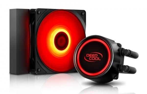 """COOLER DeepCool CPU universal. cu LICHID, soc LGA2011(3)/1366/115x & FMx/AM4/AM3x/AM2x, AL+Cu+lichid, 1x 120 red LED fan, 150W, """"GAMMAXX L120T RED"""" 0"""