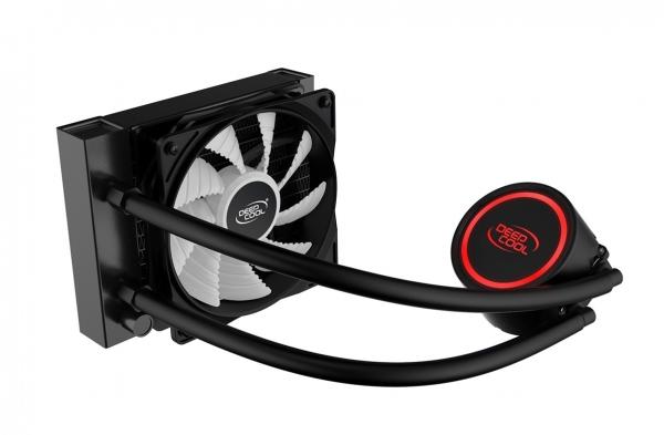 """COOLER DeepCool CPU universal. cu LICHID, soc LGA2011(3)/1366/115x & FMx/AM4/AM3x/AM2x, AL+Cu+lichid, 1x 120 red LED fan, 150W, """"GAMMAXX L120T RED"""" 2"""