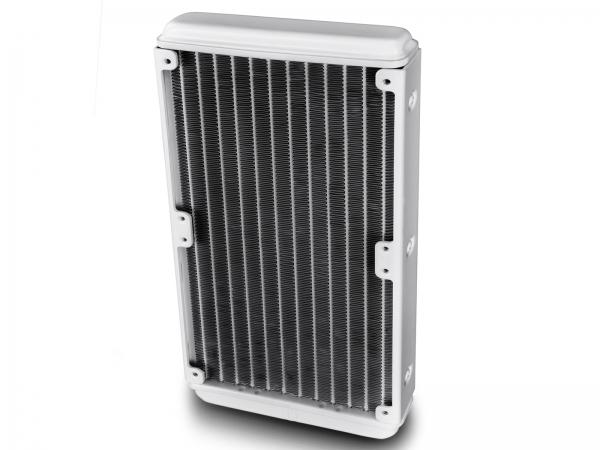 "COOLER DeepCool CPU universal. cu LICHID. soc LGA20xx/1366/115x & AMx/FMx, AL+Cu+lichid, 2x  TF 120 fans & RGB LED strip, 150W, ""CAPTAIN 240 EX RGB WHITE"" 3"