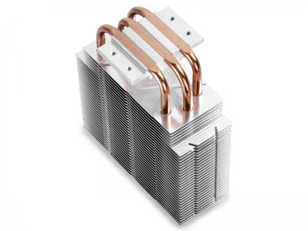 """COOLER DeepCool CPU universal, soc LGA115x/775 & FMx/AMx, Al+Cu, 3x heatpipe, red LED fan 120x25mm, 130W \'\'GAMMAXX 300R"""" 4"""