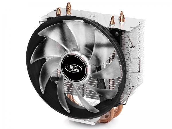 """COOLER DeepCool CPU universal, soc LGA115x/775 & FMx/AMx, Al+Cu, 3x heatpipe, red LED fan 120x25mm, 130W \'\'GAMMAXX 300R"""" 1"""