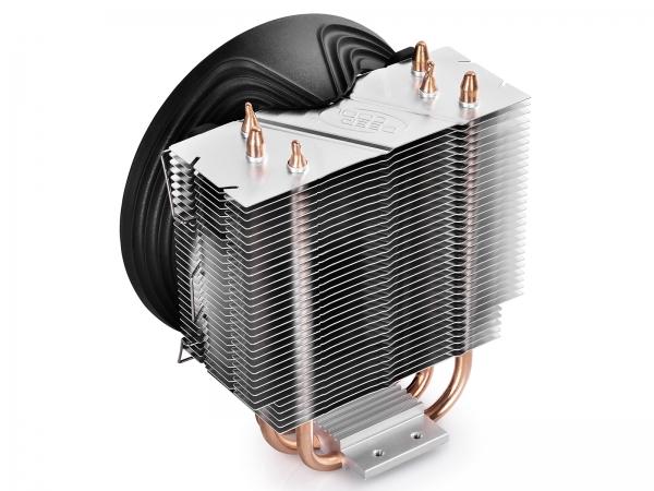 """COOLER DeepCool CPU universal, soc LGA115x/775 & FMx/AMx, Al+Cu, 3x heatpipe, red LED fan 120x25mm, 130W \'\'GAMMAXX 300R"""" 2"""