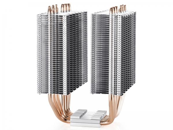 """COOLER DeepCool CPU universal, soc. LGA20xx/1366/115x/775 & FMx/AMx, Al+Cu, 6x heatpipe, 2x RGB SYNC fans 120x25mm, 200W """"NEPTWIN RGB"""" 4"""