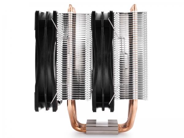 """COOLER DeepCool CPU universal, soc. LGA20xx/1366/115x/775 & FMx/AMx, Al+Cu, 6x heatpipe, 2x RGB SYNC fans 120x25mm, 200W """"NEPTWIN RGB"""" 2"""