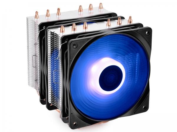"""COOLER DeepCool CPU universal, soc. LGA20xx/1366/115x/775 & FMx/AMx, Al+Cu, 6x heatpipe, 2x RGB SYNC fans 120x25mm, 200W """"NEPTWIN RGB"""" 1"""