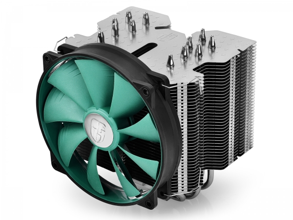 "COOLER DeepCool CPU universal, soc. LGA20xx/1366/115x/775 & FMx/AMx, Al+Cu, 6x heatpipe, fan 140x26mm, 130W ""LUCIFER V2"" 0"