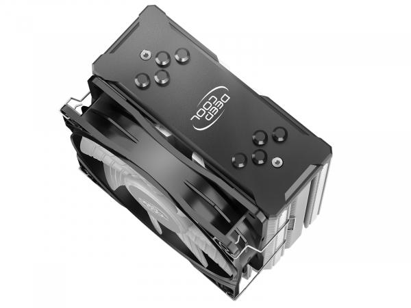 """COOLER DeepCool CPU universal, soc LGA20xx/1366/115x & AM4/AMx/FMx, Al+Cu, 4x heatpipe, 150W, ADD-RGB LED """"GAMMAXX GT A-RGB"""" 2"""