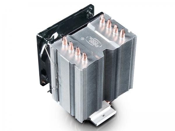 """COOLER DeepCool CPU universal, soc LGA20xx/1366/115x & AMx/FMx, Al+Cu, 4x heatpipe, 130W """"GAMMAXX C40"""" 5"""