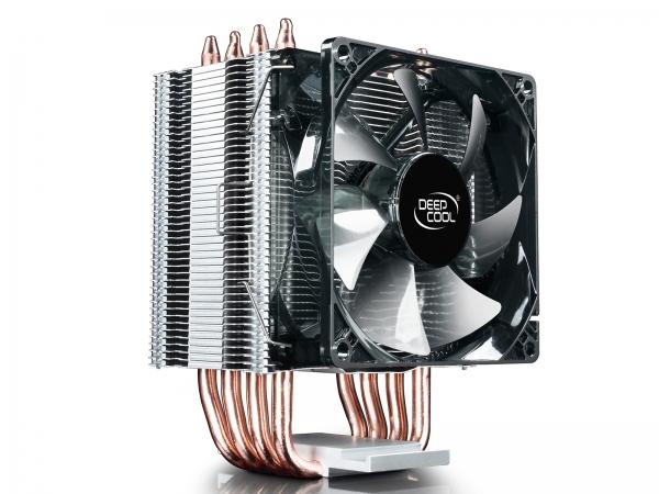 """COOLER DeepCool CPU universal, soc LGA20xx/1366/115x & AMx/FMx, Al+Cu, 4x heatpipe, 130W """"GAMMAXX C40"""" 4"""