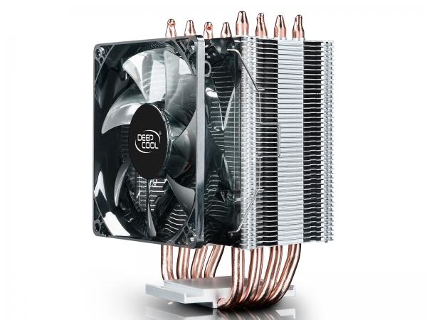 """COOLER DeepCool CPU universal, soc LGA20xx/1366/115x & AMx/FMx, Al+Cu, 4x heatpipe, 130W """"GAMMAXX C40"""" 1"""