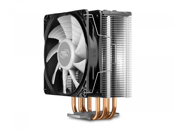 """COOLER DeepCool CPU universal, soc LGA20xx/1366/1200/115x & AM4/AMx/FMx, Al+Cu, 4x heatpipe, 150W, RGB LED """"GAMMAXX GT V2"""" 3"""