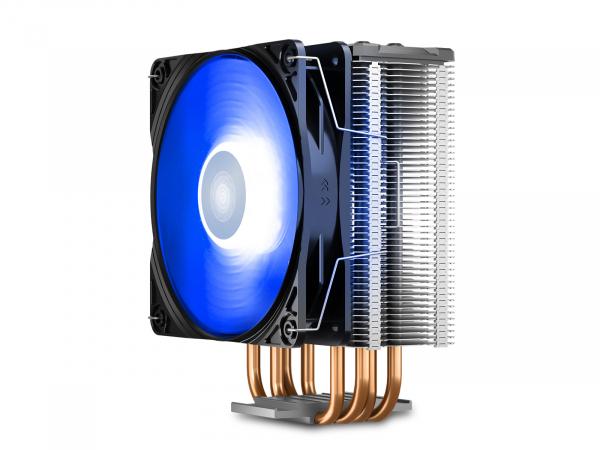 """COOLER DeepCool CPU universal, soc LGA20xx/1366/1200/115x & AM4/AMx/FMx, Al+Cu, 4x heatpipe, 150W, RGB LED """"GAMMAXX GT V2"""" 2"""