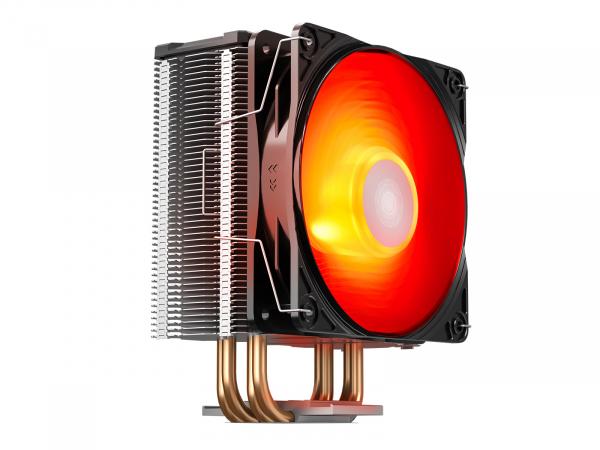 """COOLER DeepCool CPU universal, soc LGA20xx/1366/1200/115x & AM4/AMx/FMx, Al+Cu, 4x heatpipe, 150W, RGB LED """"GAMMAXX GT V2"""" 4"""