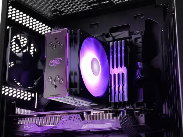 """COOLER DeepCool CPU universal, soc LGA20xx/1366/1200/115x & AM4/AMx/FMx, Al+Cu, 4x heatpipe, 150W, RGB LED """"GAMMAXX GT V2"""" 7"""