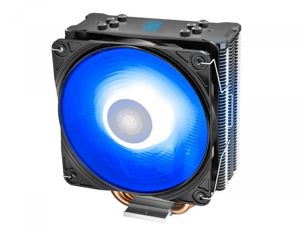 """COOLER DeepCool CPU universal, soc LGA20xx/1366/1200/115x & AM4/AMx/FMx, Al+Cu, 4x heatpipe, 150W, RGB LED """"GAMMAXX GT V2"""" 0"""
