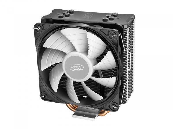 """COOLER DeepCool CPU universal, soc LGA20xx/1366/1200/115x & AM4/AMx/FMx, Al+Cu, 4x heatpipe, 150W, RGB LED """"GAMMAXX GT V2"""" 1"""