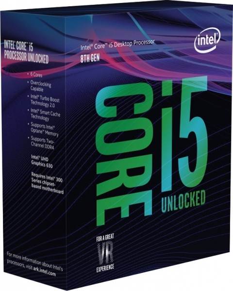 "CPU INTEL skt. 1151  Core i5 Ci5-8600K, 3.6GHz, 9MB   ""BX80684I58600K"" 0"