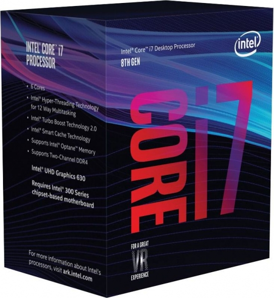 "CPU INTEL skt. 1151  Core i7 Ci7-8700K, 3.7GHz, 12MB   ""BX80684I78700K"" 0"
