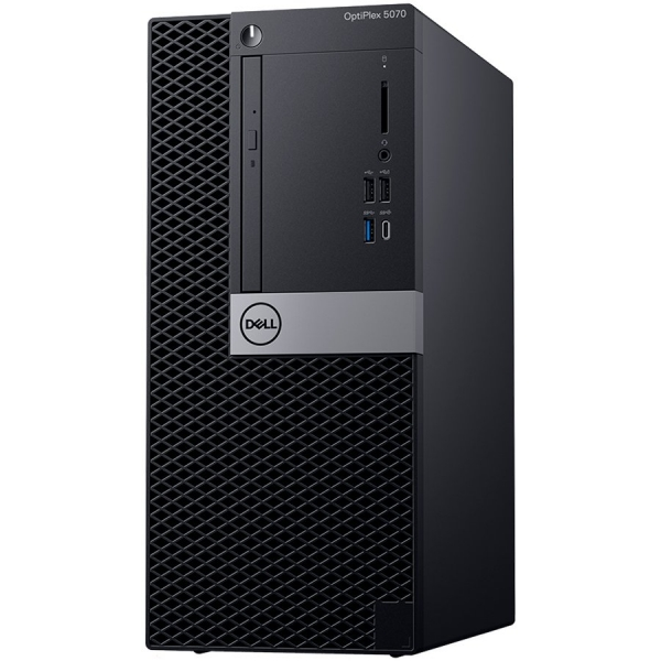 Dell Optiplex 5070 MT, Intel Core i7-9700 (8 Cores/12MB/8T/3.0GHz to 4.8GHz/65W), 8GB (1x8GB) DDR4 2666MHz,256GB (M.2)PCIe NVMe, Intel Graphics 630, DVD+/-RW, Dell Mouse-MS116,Dell Keyboard-KB216,Win1 0