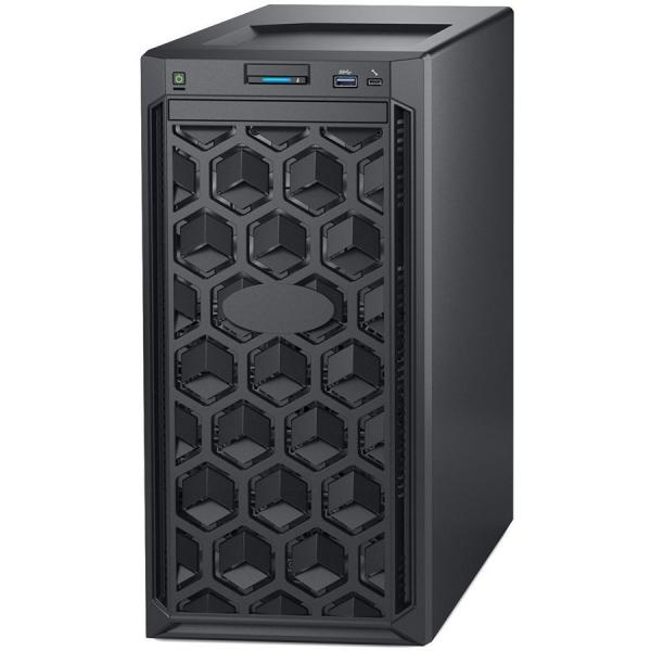 "Dell PowerEdge T140 Tower Server,Intel Xeon E-2134 3.5GHz (4C/8T), 16GB(1x16GB) 2666 MT/s UDIMMs, 2 x 4TB 7.2K RPM SATA(3.5""up to 4 Cabled HDD), PERC H330, DVD+/-RW, iDRAC9 Basic, 3Yr NBD 0"