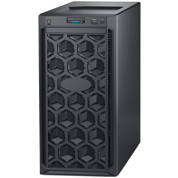 Dell PowerEdge T140 Tower Server,Intel Xeon E-2224 3.4GHz(4C/4T),16GB(1x16)UDIMM 2666MT/s,2x4TB 7.2K RPM SATA(3.5 Chassis up to 4 Cabled HDD),PERC H330,DVD+/-RW,iDrac9 Basic,3Yr NBD 0