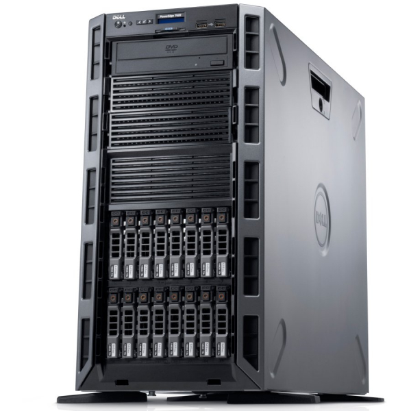 "Dell PowerEdge T40 Tower Server,Intel Xeon E-2224G 3.5GHz(4C/4T),8GB(1x8GB)2666MT/s DDR4 ECC UDIMM,1TB 7.2K RPM SATA(3.5"" Chassis with up to 3 Hard Drives),DVD +/-RW,3Yr NBD 1"