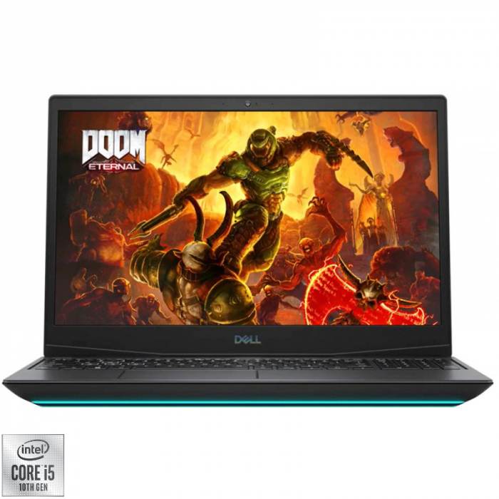 Laptop DELL Gaming 15.6'' G5 5500, FHD 144Hz, Procesor Intel® Core™ i5-10300H (8M Cache, up to 4.50 GHz), 8GB DDR4, 1TB SSD, GeForce GTX 1650 Ti 4GB, Linux, Interstellar Dark, 3Yr CIS 1