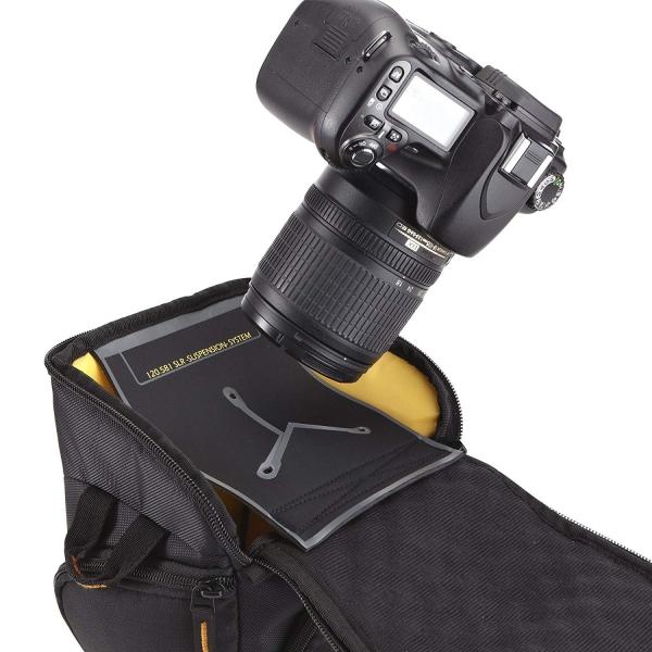 "Geanta camera foto SLR Case Logic, buzunar frontal, buzunare laterale, curea detasabila, spuma eva, rezistenta la apa, negru ""SLRC201""/3200902 4"