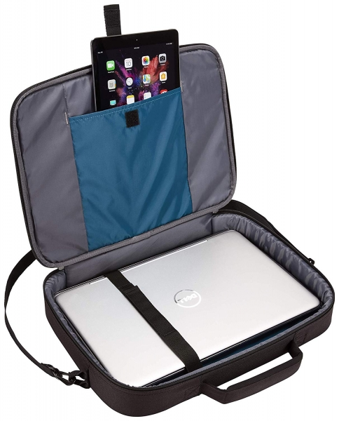 "GEANTA CASE LOGIC notebook 15.6"", poliester, 1 compartiment, buzunar interior tableta, 2 buzunare frontale, black, ""ADVB116 Black""/3203990 4"