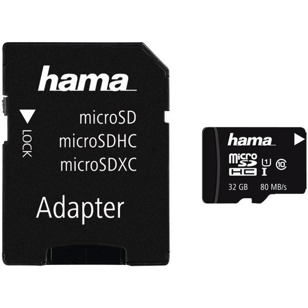 Hama microSDHC 32GB Class 10 UHS-I 80MB/s + Adapter/Photo [0]