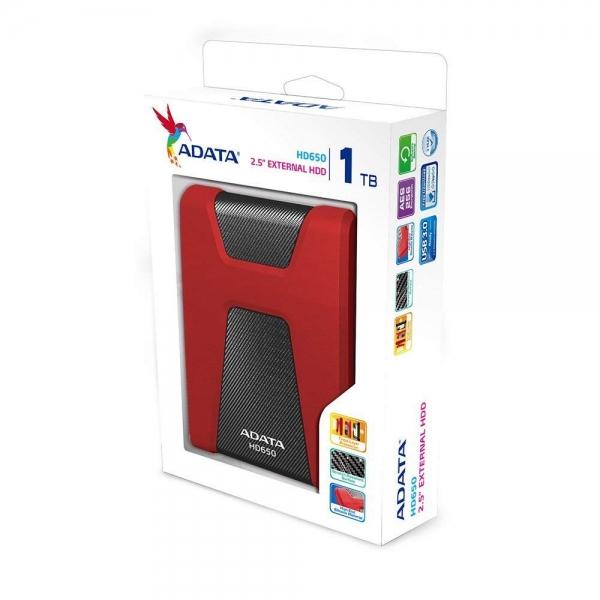 "HDD ADATA EXTERN 2.5"" USB 3.1 1TB  HD650 Black&Red ""AHD650-1TU31-CRD"" (include timbru verde 0.5 lei) [1]"