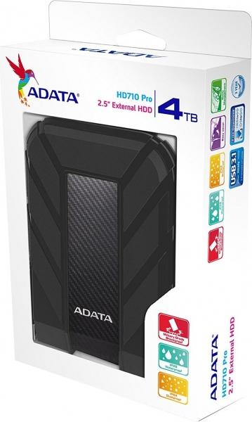 "HDD ADATA EXTERN 2.5"" USB 3.1 4TB HD710 Pro Black ""AHD710P-4TU31-CBK"" (include timbru verde 0.01 lei) 2"
