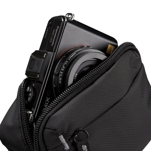 "Husa camera foto/video Case Logic, buzunar frontal, carabina, nylon, negru ""TBC403K""/3201467 1"