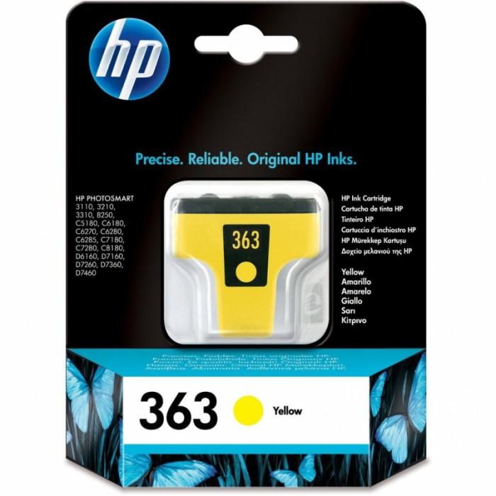 Cartus cerneala Original HP Yellow 363 w.Vivera ink, compatibil PhotoSmart 3110/3210/3310/C5180/C6180/C6250/C6280/C8180/D7160/72xx, 4ml, 350pag  [0]