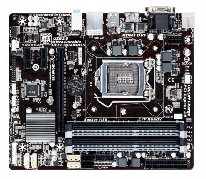 Placa de baza Gigabyte B85M-DS3H, socket 1150, mATX 0