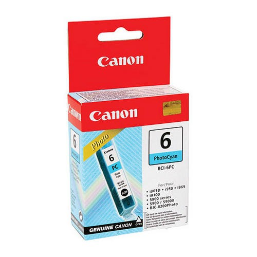 Cartus cerneala Original Canon BCI-6PC Photo Cyan, compatibil S800   0