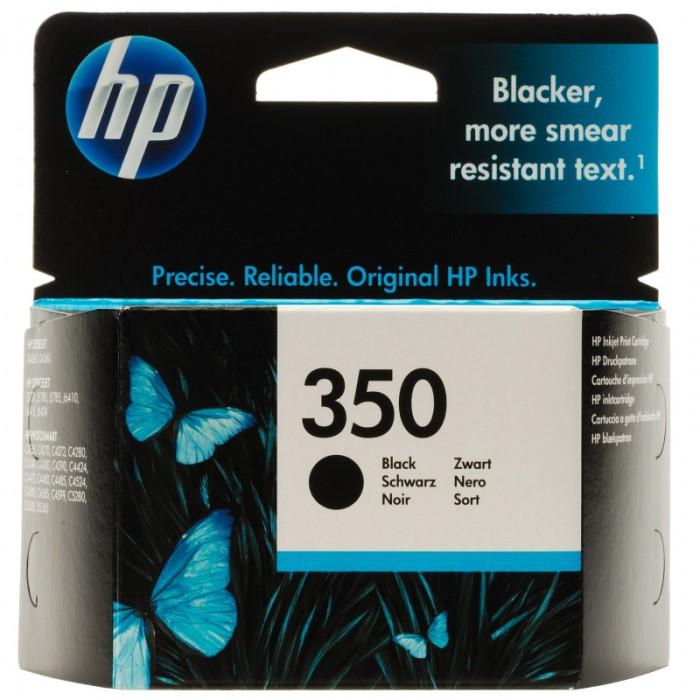 Cartus cerneala Original HP Black 350 w.Vivera ink, compatibil DJ D4260/4360/J5730/5780/6410/PS C4205/4272/4280/4480/5280, 4.5ml  0
