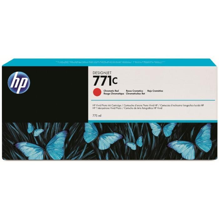Cartus cerneala Original HP Red Chromatic 771C, compatibil DesignJet Z6200, 775ml  0