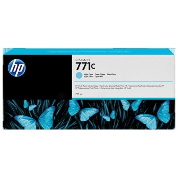 Cartus cerneala Original HP Cyan Light 771C, compatibil DesignJet Z6200, 775ml  [0]