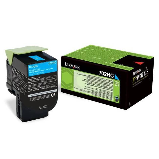 Toner Original pentru Lexmark Cyan 702HC, compatibil CS310/410/510/, 3000pag  0