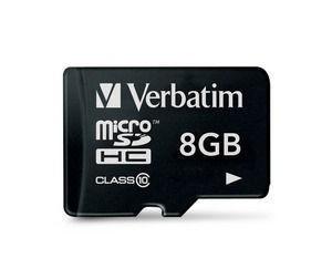 SECURE DIGITAL CARD MICRO 8GB (Class 10) Premium U1 Verbatim  0